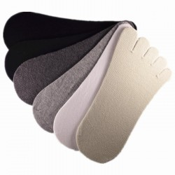 Pack de 6 Paires Socquettes à doigts INVISIBLE Assorties Mixte T.U.