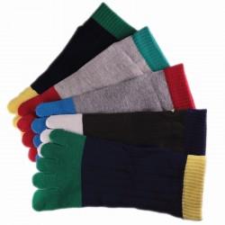 Pack de 5 Paires Socquettes à doigts Assorties T.U. Mixte