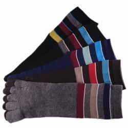Pack de 5 Paires Chaussettes à doigts Assorties T.U. Mixte