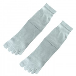 Pack de 2 Paires Chaussettes à doigts Gris T.U. Mixte