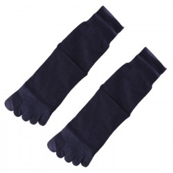 Pack de 2 Paires Chaussettes à doigts Bleu foncé T.U. Mixte