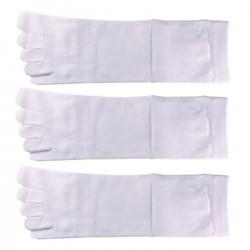 Pack de 3 Paires Chaussettes à doigts Blanc T.U. Mixte