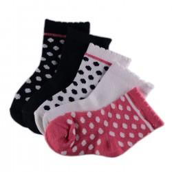 Pack de 5 Paires Chaussettes Bébé à pois