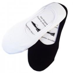 Pack de 2 Paires Socquettes Invisible Coton Anti-dérapant
