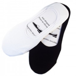 Pack de 6 Paires Socquettes Invisible Coton Anti-dérapant