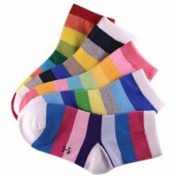 Pack de 5 Paires Chaussettes Enfant Rayée Multicolores Mixte