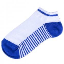 Pack de 6 Paires Socquettes Blanc/Bleu Rayée Garçon
