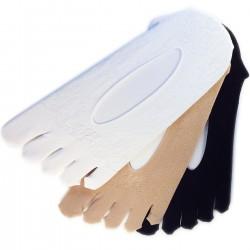 Pack de 3 Paires Socquettes Invisibles à Doigt Sans Couture T.U.