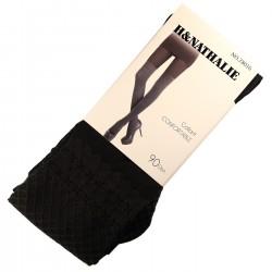 Pack de 2 Collants Confort Effet Bas 90DEN Noir