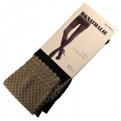 Pack de 2 Collants Confort Effet Bas 90DEN Brun