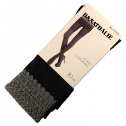 Pack de 2 Collants Confort Effet Bas 90DEN Gris