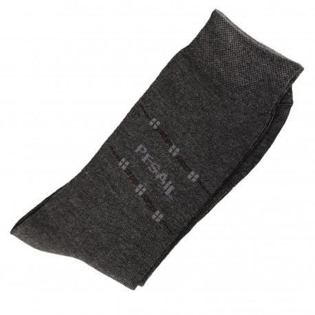 Chaussettes Homme Classique Coton Gris Anthracite