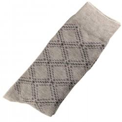 Pack de 2 Paires Chaussettes Homme Classique Coton Gris