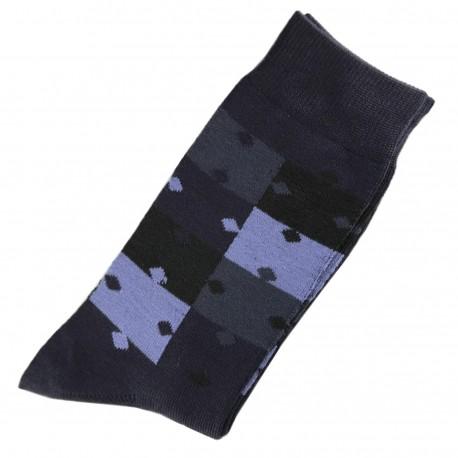 Pack de 2 Chaussettes Homme ClassiquePuzzle Coton Bleu Marine
