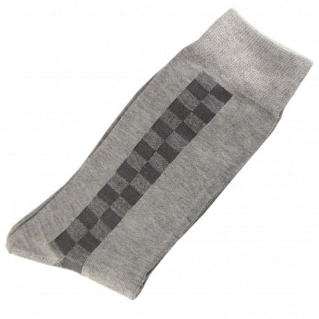 Pack de 2 Chaussettes Homme Classique Coton Gris