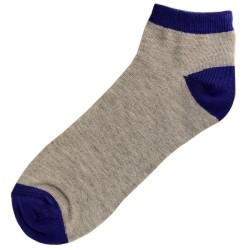 Pack de 3 Paires Socquettes Coton Homme T.U. Bleu
