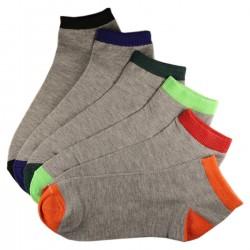 Pack de 6 Paires Socquettes Assorties Coton Homme T.U.