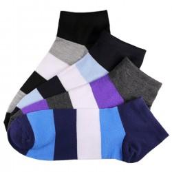 Pack de 12 Paires Socquettes Assorties Coton Rayée Homme T.U.