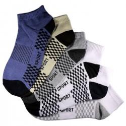 Pack de 12 Paires Socquettes Assorties Coton Sport Homme T.U.