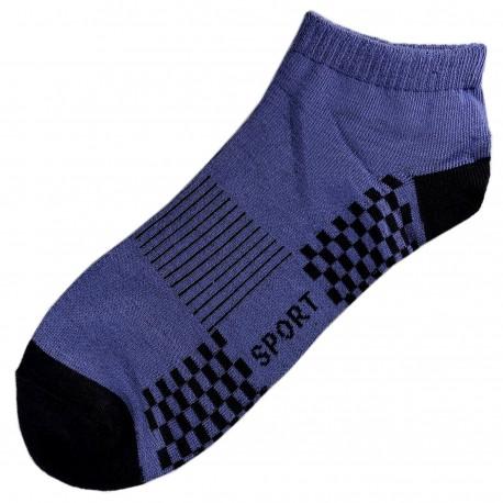 Pack de 3 Paires Socquettes Coton Sport Homme T.U. Bleu Bleuet