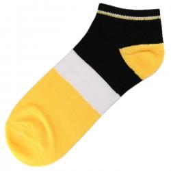 Pack de 3 Paires Socquettes Coton Tricolore Mixte T.U. Jaune