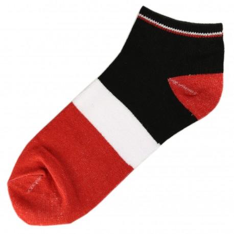 Socquettes Coton Tricolore Mixte T.U. Rouge