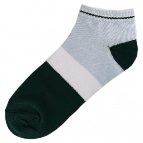 Socquettes Coton Tricolore Mixte T.U. Vert