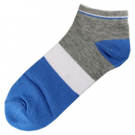 Socquettes Coton Tricolore Mixte T.U. Bleu Azur