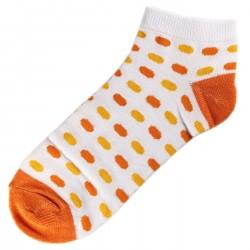 Pack de 3 Paires Socquettes Coton Ovale Femme T.U. Orange
