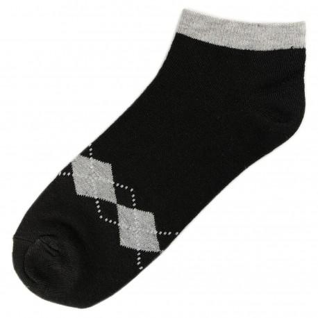 Socquettes Coton Ecossais Mixte T.U. Noir