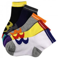 Pack de 6 Paires Chaussettes Assorties Garçon Coton Motifs 8