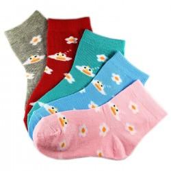 Pack de 12 Paires Chaussettes Assorties Fille Coton Motifs Fleurs