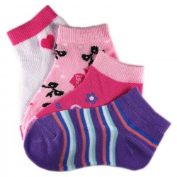 Pack de 4 Paires Chaussettes Assorties Fille Coton