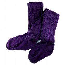 Collant Enfant Coton Violet