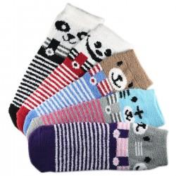 Pack de 5 Paires Chaussettes Chaudes Assorties Polaire Motif Animal