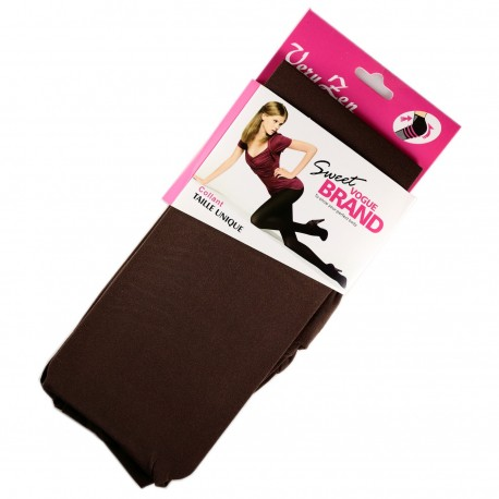 Collant Opaque Coloré 60DEN Chocolat Color Block