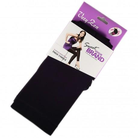 Legging Opaque Coloré 60DEN Violet Color Block