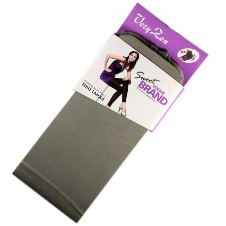 Legging Opaque Coloré 60DEN Gris Color Block