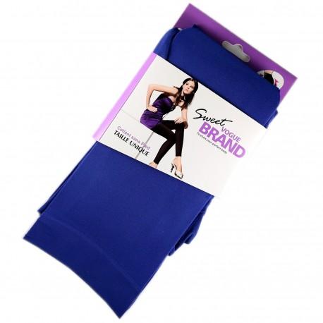 Legging Opaque Coloré 60DEN Bleu Royal Color Block
