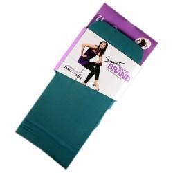 Legging Opaque Coloré 60DEN Bleu Canard Color Block