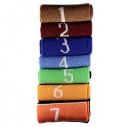 Pack de 7 Paires Chaussettes avec Chiffres 1 à 7 Mixte T.U.