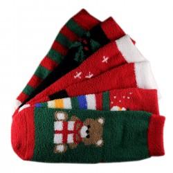 Pack de 6 Paires Chaussettes Chaudes Noël T.U.