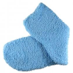 Pack de 2 Paires Chaussettes Chaudes Polaires T.U. Bleu cyan