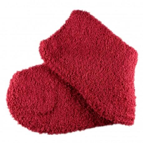 Pack de 2 Paires Chaussettes Chaudes Polaires T.U. Rouge