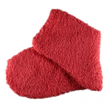 Pack de 2 Paires Chaussettes Chaudes Polaires T.U. Rouge capucine