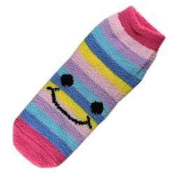 Pack de 2 Paires Chaussettes Chaudes Polaires Motif Happy Smile T.U.