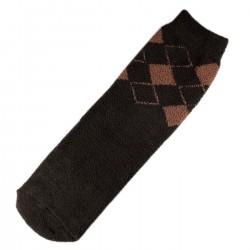 Pack de 2 Paires Chaussettes Chaudes Polaire Motif Ecossais T.U.