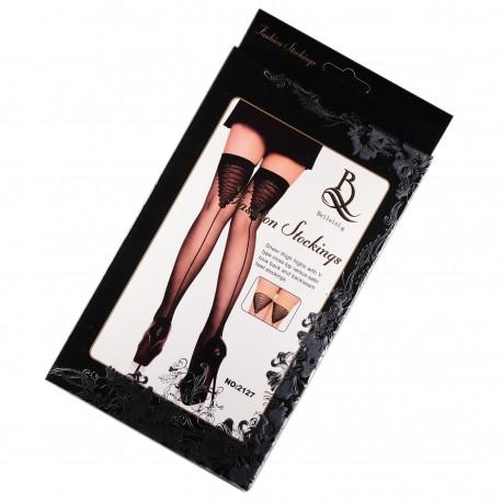 BAS SEXY NOIR avec Couture arrière T.U