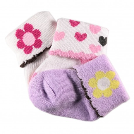 Pack de 3 Paires Chaussettes Coton Bébé