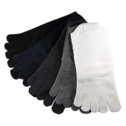 Pack de 5 Paires Chaussettes à doigts Assorties Mixte T.U.